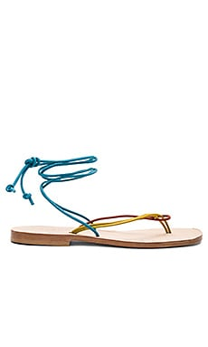 Favignana Sandal in Yellow, Terracotta, & Turquoise