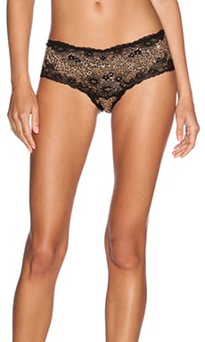 Cosabella Italia Printed Lowrise Hotpant in Black & Cheetah Brown