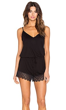 Cosabella Edith Lounge Romper in Black