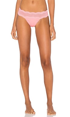 Cosabella Dolce Thong in Geranium Pink