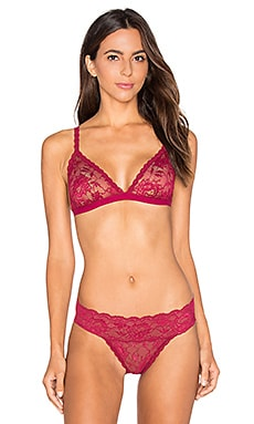 Cosabella Never Say Never Dreamie Triangle Soft Bra in Deep Ruby