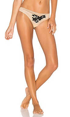 Speakeasy Low Rise Thong in Nude & Black