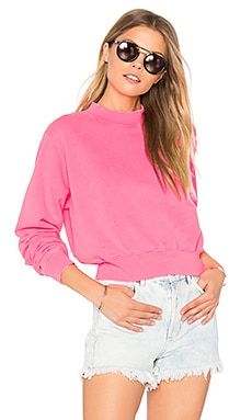 The Milan Cropped Sweatshirt in Pink