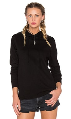 COTTON CITIZEN Malibu Hoodie in Jet Black Destroyed