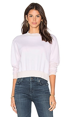 Milan Cropped Sweatshirt in Rose
