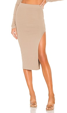 x REVOLVE Melbourne Midi Skirt With Slit COTTON CITIZEN $125