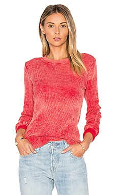 The Monaco Thermal Tee in Crimson Dust