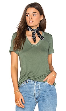 The Mykonos V Neck Tee in Sage