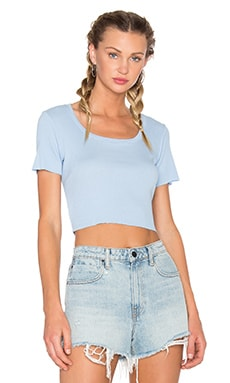 Melbourne Crop Tee in Periwinkle