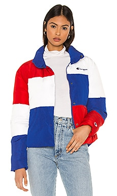 Color Block Puff Jacket Champion $195