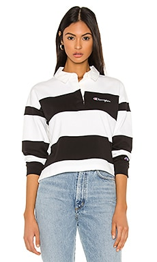 Small Script Striped Polo Shirt Champion $56