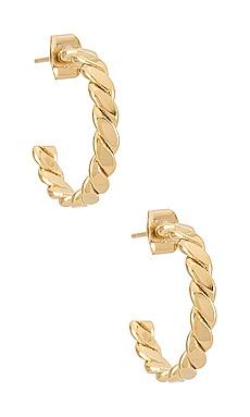 Loaf Hoop Earrings Cloverpost $75