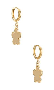 Daisy Huggie Hoop Earrings Cloverpost $99