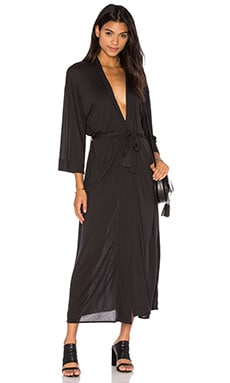 Craft & Commerce Kimono Wrap Dress in Black