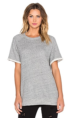 Craft & Commerce Short Sleeve Sweatshirt in Grey