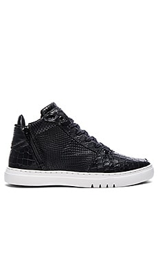 Adonis Mid in Black Croc Snake