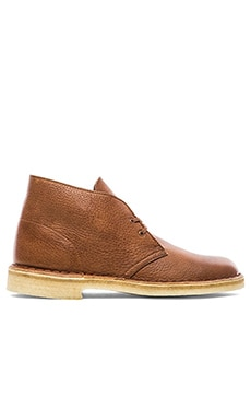 Clarks Desert Boot in Tan Tumbled Leather