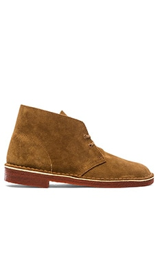 Clarks Desert Boot in Tobacco Suede & Brick Crepe