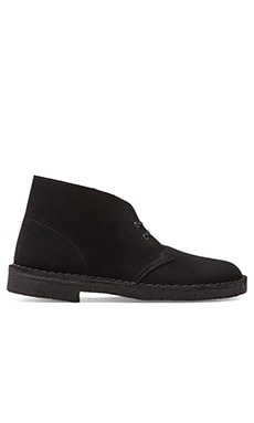 Clarks Originals Desert Boot in Black Suede