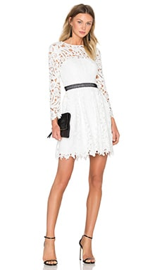 Wild Flower Fit & Flare Dress en Blanc