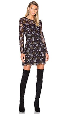 Lynden Bell Floral Mini Dress in Plum Multi