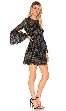 Ditzy Embroidered Dress en Noir