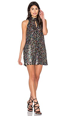 Sequin Shift Dress in Multicolor