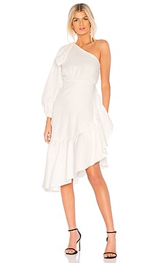 Aleeza One Shoulder Tie Sleeve Dress Cynthia Rowley $99