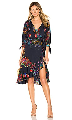 Roseland Printed Wrap Dress Cynthia Rowley $333