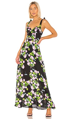 Ten Rose Silk Maxi Dress Cynthia Rowley $179