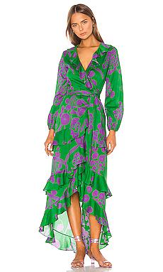 Lanai Ruffle Wrap Dress Cynthia Rowley $309