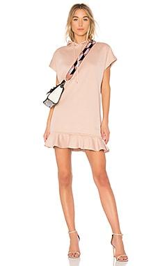 Hoodie Dress With Ruffles