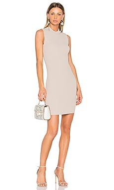 Ribbed Dress in Pearl Gray