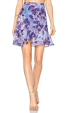 Mini Skirt in Violet & Bleu