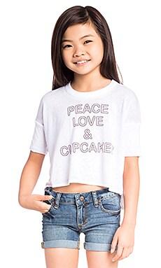 PEACE LOVE & CUPCAKES 티셔츠