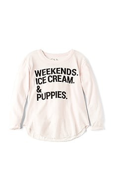 WEEKENDS & PUPPIES 티셔츠
