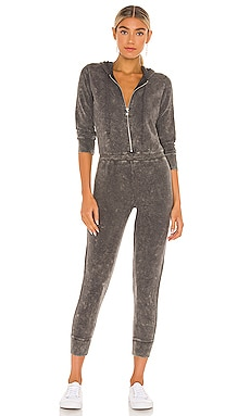 Bliss Knit Long Sleeve Hooded Zip Up Onesie Jumpsuit Chaser $99