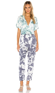 Short Sleeve Rolled Cuff Jumpsuit Chaser $128