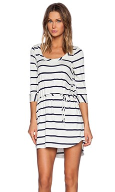 Chaser Drape Back Dress in Striped