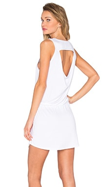 Chaser Drape Back Drawstring Mini Dress in White