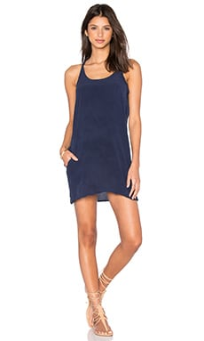 Silk T Back Mini Dress in Cove