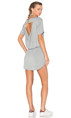 Drape Back Pocket Mini Dress in Grey
