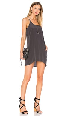 Chaser Silk T Back Mini Dress in Black