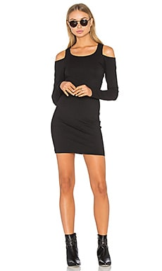 Cold Shoulder Bodycon Dress in Black