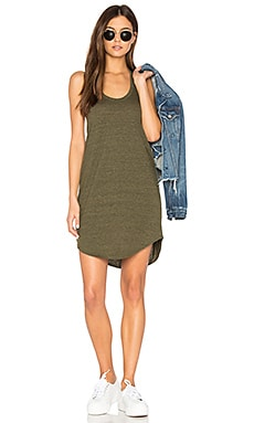 T Back Shirttail Mini Dress in Dark Olive