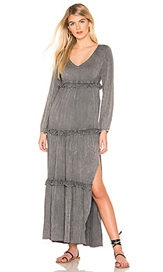 8c671c0644 Long Sleeve V Neck Ruffle Tier Maxi Chaser  47 ...