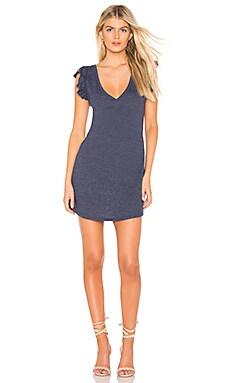 Flutter Sleeve Hi Low Shirttail Dress Chaser $75