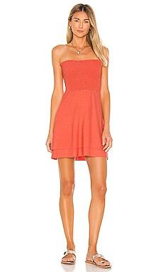 Cozy Knit Strapless Smocked Mini Dress Chaser $88