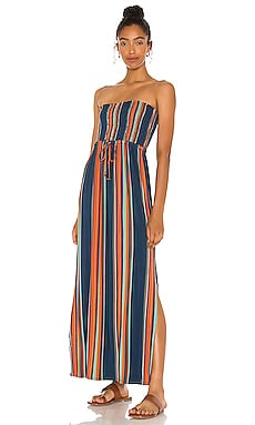 Cool Jersey Smocked Strapless Maxi Dress with Side Slits Chaser $99