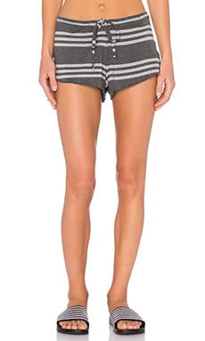 Flouncy Drawstring Short in Stripe
